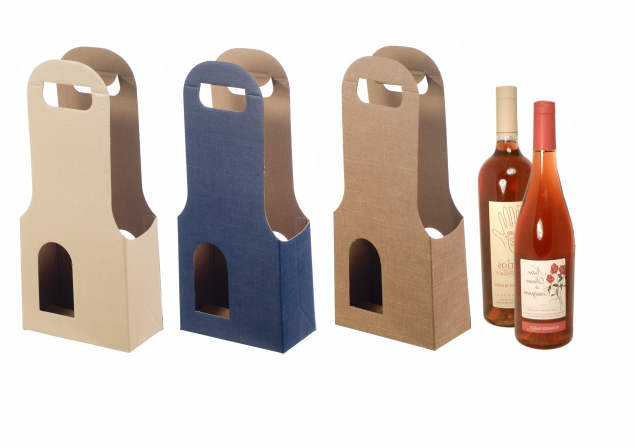 Boxes for Two Bottles (with window)