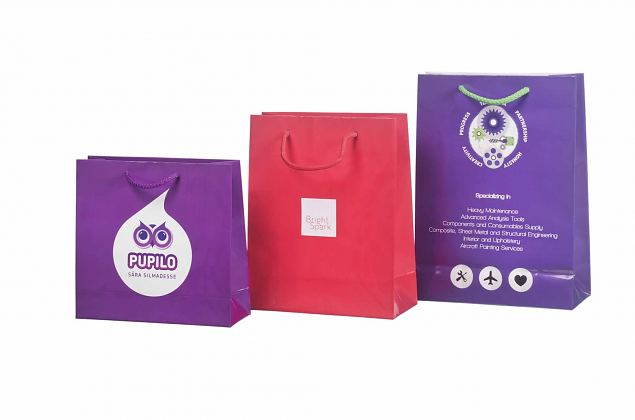 laminated paper bags with logo
