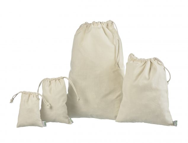 Cotton bags with a rope